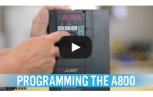 How to Program the Mitsubishi A800 Series VFD