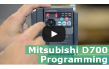 How to program the Mitsubishi D700 series VFD (Video)