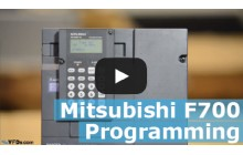 How to program the Mitsubishi F700 series VFD (F720, F740)