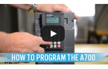 How to Program the Mitsubishi A700 Series VFD